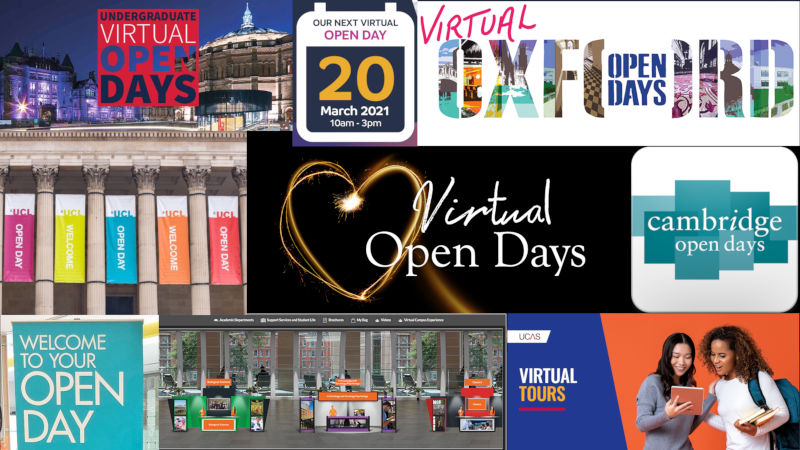 Virtual Open Days Oxford Cambridge University Events